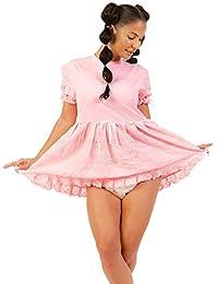 Pink Baby Doll Dress - Peek-A-Boo Diaper Dress
