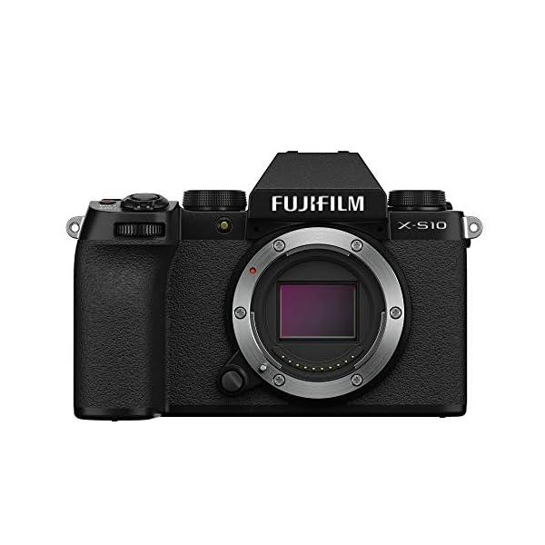 "RetinaPix Fujifilm X-S10 Mirrorless Camera Body Only (APS-C X-Trans CMOS 4 Sensor, EVF, IBIS, 3"" Vari-Angle LCD Touchscreen, Face/Eye AF, 4K/30P & FHD/240P Video Vlogging, Film Simulation)-Black"