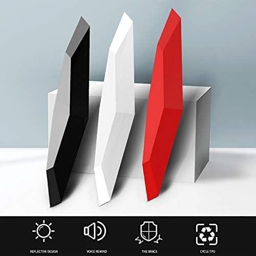 R/ückspiegel Anti-Kollisions-Streifen Schutzgitter aus Kunststoff Borte Aufkleber Farbe : Black schwarz Auto-Anti-Kollisions-Streifen 6 PCS Universal Car Schreien Autot/ür