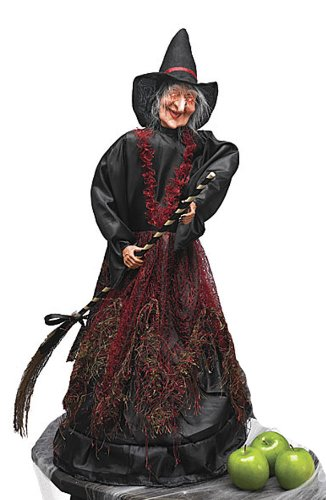 [Cackling Moving Scary Light Up Witch Halloween Decoration] (Scary Halloween Witches)