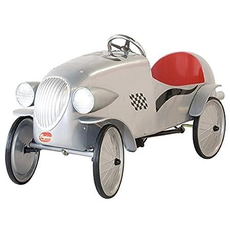 Baghera 1924G - Macchina a Pedali Auto da Corsa, Grigio