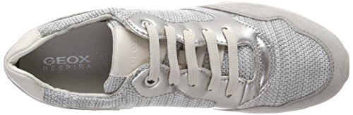 Mujer B Grey White para Geox Zapatillas Phyteam Lt D Gris wpxwqEXn
