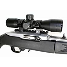 4x32 Mil-Dot Compact Rifle Scope & Ruger 1022 10-22 10/22 Scope Mount.