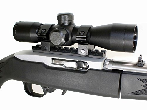 (Trinity 4x32 Mil-Dot Compact Scope & Ruger 1022 10-22 10/22 Scope Mount.)
