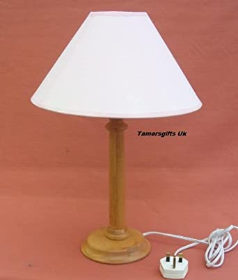 Antique pine wooden table lamp base shade amazon lighting antique pine wooden table lamp base shade aloadofball Images