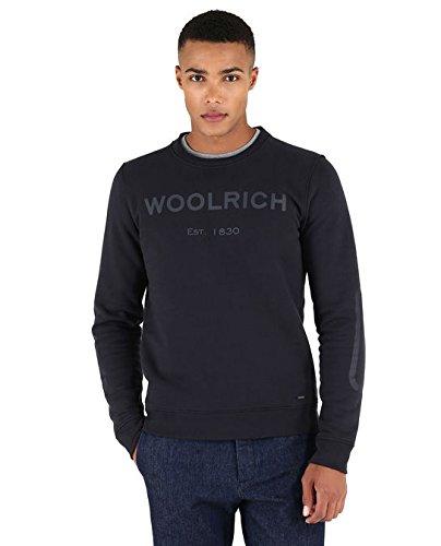 Tecnico Blu Logo 300 Cotone Navy Woolrich High ht04 Crew Felpa In Tech Neck Wofel1103 wPf6S4qxp
