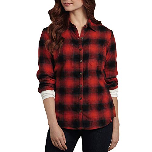 Plaid Donna s English ink Dickies Red Navy Flanella L Top OHqBxnwCt