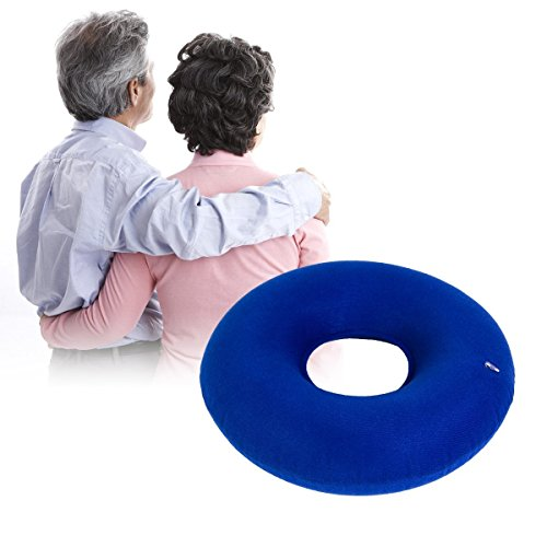 Inflatable Donut Ring Cushion Hemorrhoid Treatment Seat Pillow for Tailbone Pain Child Birth Coccyx Pregnancy Prostatitis Prostate Bed Sores Relief wheelchair -by Eastshining