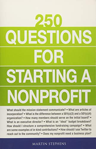 250 Questions for Starting a Nonprofit from Adams Media