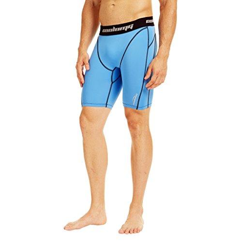 Pantalones de compresión COOLOMG para hombre–Mallas largas y 3/4Leggings de secado rápido capa base para fitness gimnasio Entrenamiento Running Deporte S2-LBB