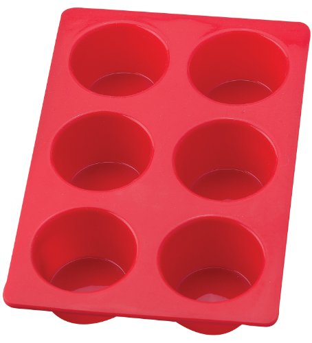 Mrs. Anderson's Baking 43629 6-Cup Jumbo Muffin Pan, Non-Stick European-Grade Silicone (Flexible Muffin Mold)