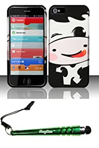 FoxyCase(TM) FREE stylus AND For iPhone 5 - Rubberized Design Case Cover Protector Silly Cow Desire Safe Phone cas couverture