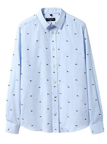 ビクター借りている真実に男性ノンアイロン100%綿長袖カジュアルシャツ
