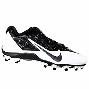 Nike Alpha Pro TD Men's Molded Football Cleats (12.5, Black/ White)
