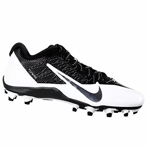 Nike Alpha Pro TD Men's Molded Football Cleats (12.5, Black/ White) (Cleats Football Nike Molded)