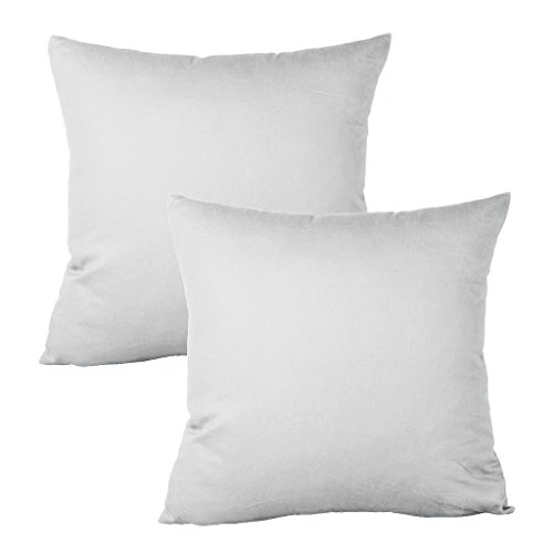 Meraki 1800 Series Soft Brushed Microfiber Solid White, Euro Square Throw Pillowcases with Hidden Zippered (12