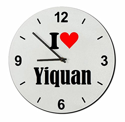 "Exclusive Gift Ideas: Glass Watch ""I Love Yiquan"" a Great gift that comes from the Heart- Watch- Ø20 cm- Christmas Gift"
