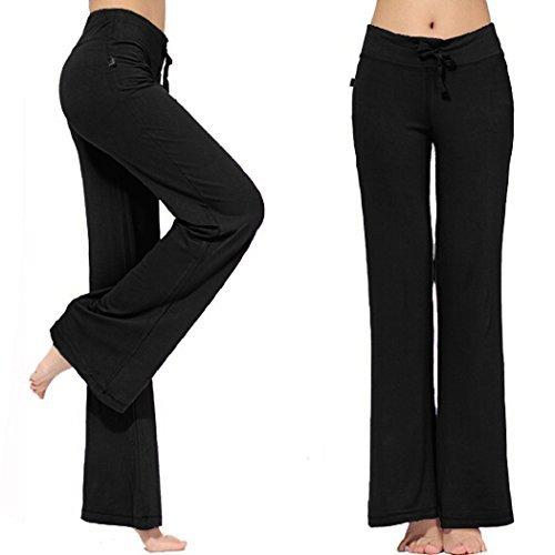 Women's bootleg sleek-fit yoga pants{XXL,Black}