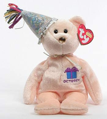 Amazon.com: TY Beanie Baby – Octubre de el oso cumpleaños ...