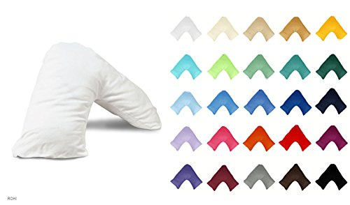 Orthopaedic V Shaped Support Pillow Nursing Pregnancy Back Support. 'Includes Complimentary White Pillowcase FREE' 20 Colours To Choose From