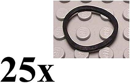 LEGO Technic 25 pcs NEW BLACK SMALL RUBBER BAND belt x88 elastic robotics motor