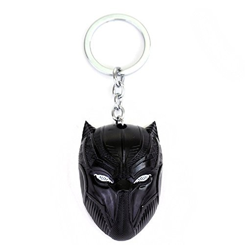 Black Panther Key Chain Game Movie Flim metal mask souvenir (Black)