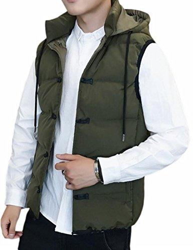 TTYLLMAO Winter 1 Men's Waistcoat Hooded Coat Short Jacket Down Puffer Vest FvFwrnAqY