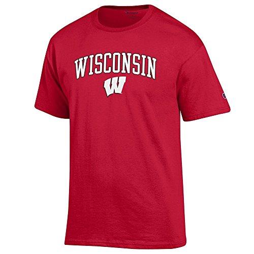 Elite Fan Shop Wisconsin Badgers Tshirt Varsity Cardinal - M