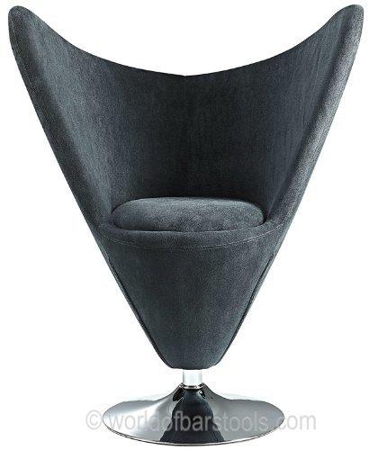 lexus funky swivel chair black arne jacobsen style egg