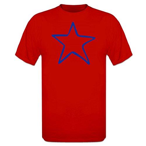 Shirtcity Star Scribble T-Shirt XXL Red (Scribble Stars)