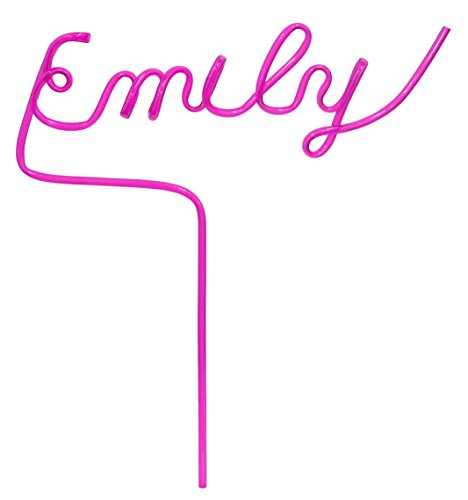 Custom Namesake Straw (Pink) Up to 8 Letters - Any Word - Personalized Gift (Reusable & Recyclable) - Name -