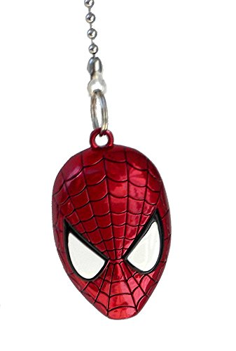 Dc marvel comics super hero superhero character pewter ceiling fan dc marvel comics super hero superhero character pewter ceiling fan pull light chain spiderman aloadofball Gallery