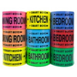 Bedroom Packing Tape for 3 Bedrooms - Living, Dining, Kitchen, Bedroom, & Bathroom Room Packing & Moving Supplies