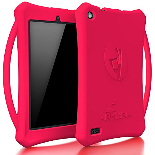 Armera Case for All-New Fire 7 Tablet with Alexa - Anti Slip Shockproof Light Weight Kids Friendly Protective Case with Carry On Handle for Amazon Kindle Fire 7 2017 (ONLY for 7th Gen 2017), Mag