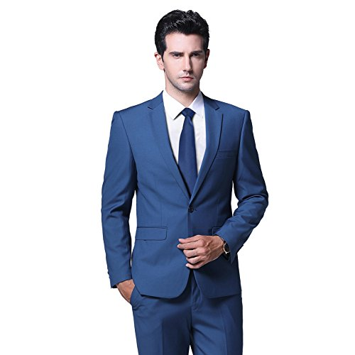 YFFUSHI Mens Slim Fit 2 Piece Suits One Button Multi-Color Wedding Party Tuxedo ()
