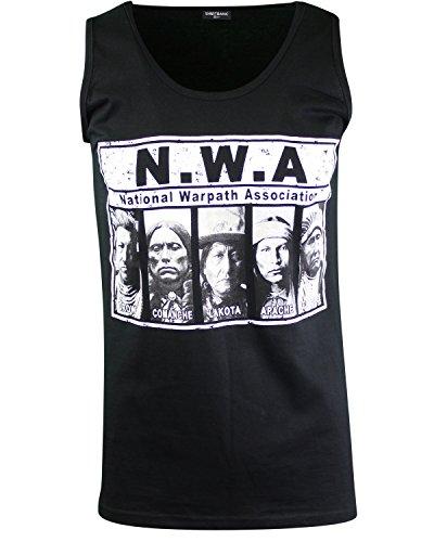 ShirtBANC National War Association Mens Tank Top Shirt Native American Tee (NWAssociation Tank, S)
