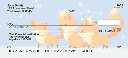 Playful Foxes Personal Checks (1 Box Duplicates) by Carousel Checks Inc.