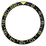 Bezel Insert Ceramic for Rolex GMT 16710,16713,16718 Sapphire Black Gold Font