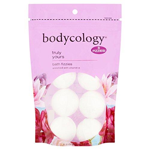 Bodycology Truly Yours Bath Soak Fizzies Bombs 8 - 2.1 Oz Balls - Freesia Bath Soak