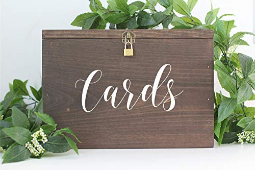 Rustic Wooden Card Box with Lock | Rustic Wedding Decor | Wedding Card Box | Rustic Wedding Card Box | Wedding Card Holder | Personalized Card -
