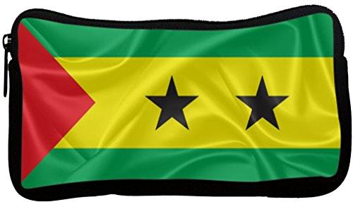 Rikki KnightTM Sao Tome and Principe Flag Neoprene Pencil Case