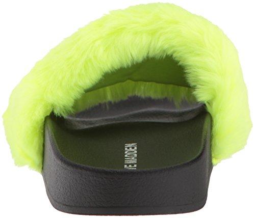 Madden Softey Slide Women's Sandal Neon Flat Steve Yellow PwF4xqpRRH