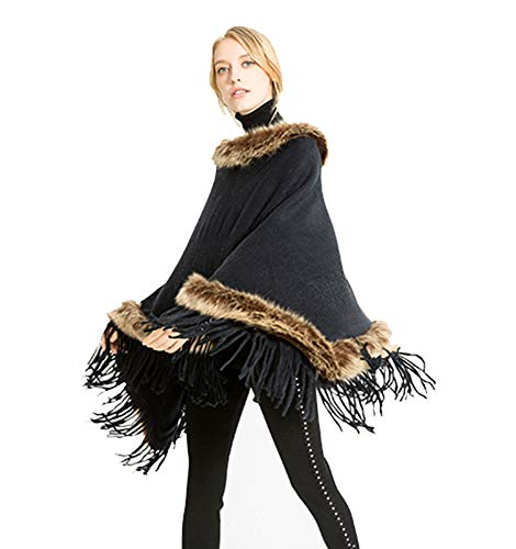 OVEL Women's Poncho Coat,Soft Knit Poncho Sweater, for sale  Delivered anywhere in USA