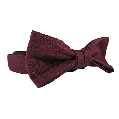 Maroon Cat or Dog Wedding Attire Collar Size Large 1'' Wide and15-23'' Long with Bow Tie by Oh My Paw'd by Oh My Paw'd