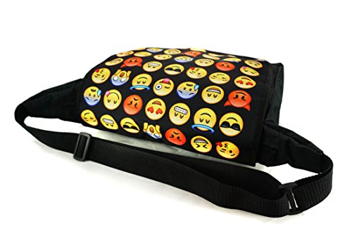 hombro bandolera portátil bolsa Emoji Bolsa Bolso Messenger Black Bag de 052 pOXdOYqn
