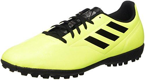 Adidas Conquisto II TF, Zapatos de Futbol para Pasto Sintético, Hombre, Color Amarillo, Talla 25.5