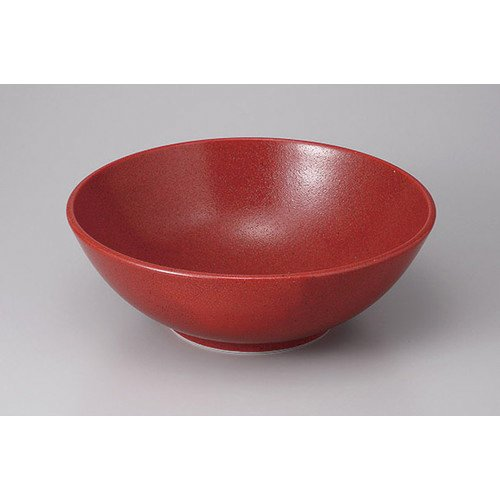 [mkd-357-8-6e] Large bowl ? Soup red red citron bowl [29.5 x 29.5 x 10 cm] Ryotei Ryokan Japanese style dish for drinking service business by SETOMONOHONPO