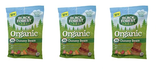 Black Forest Organic Gummy Bears 4 oz Bag (Pack of 3)
