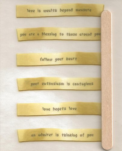 Love Asian Fortunes Rub-ons for Scrapbooking (3026)
