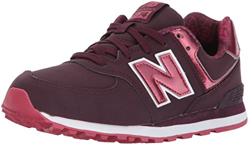 Rouge Burgundy New Balance bébé 574 Mixte Baskets XOq4wp